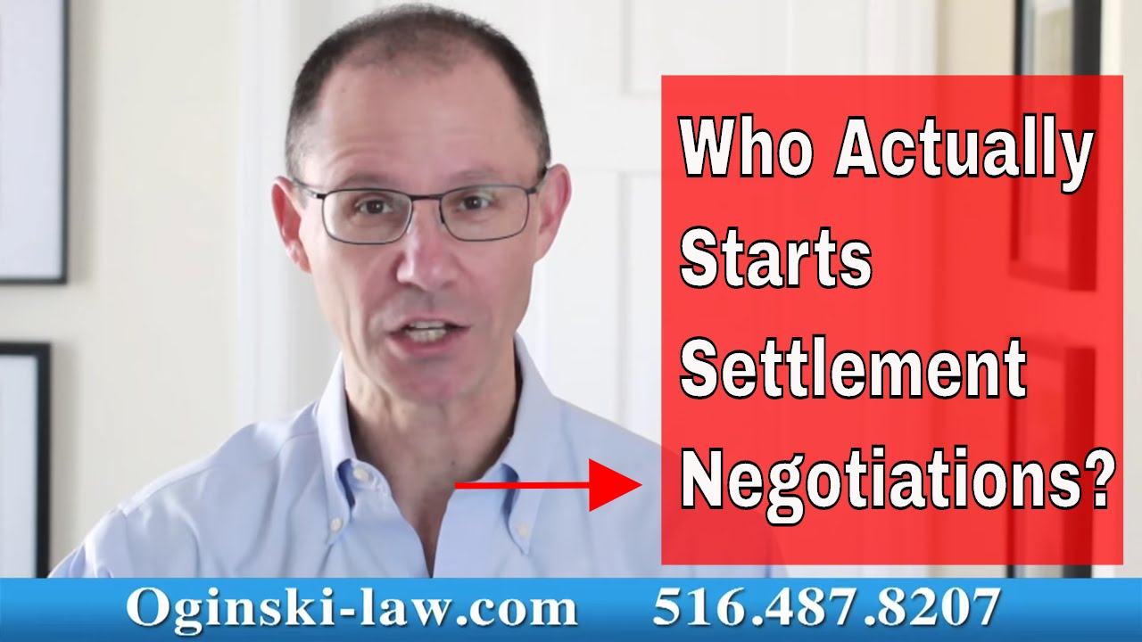 Who Initiates Settlement Negotiations in a Civil Lawsuit in New York?