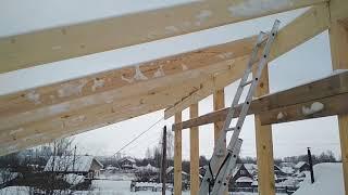 односкатная крыша сип дома часть2