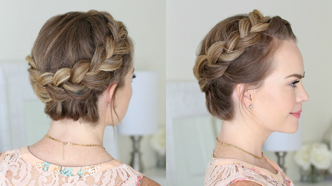 dutch crown braid beginners