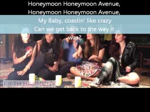 Honeymoon Avenue Cover by Fifth Harmony with Lyrics on Screen
