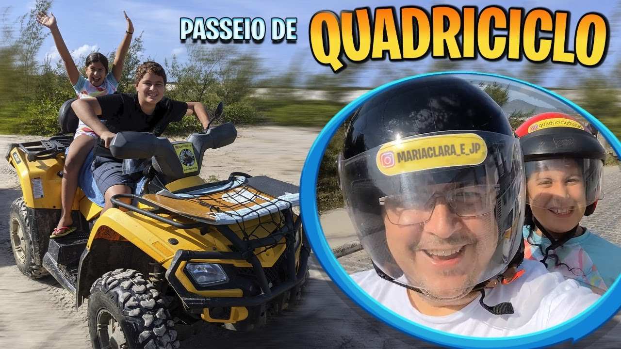 Andamos pela primeira vez em um quadriciclo , que aventura! - Família Maria Clara e JP
