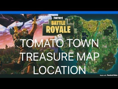 Tomato Town Treasure Map Location In Fortnite