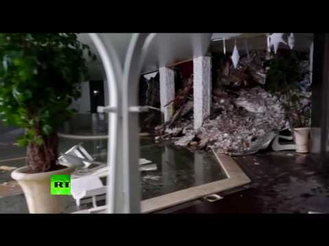 Italian avalanche: Footage from inside Abruzzo hotel buried under tons of snow