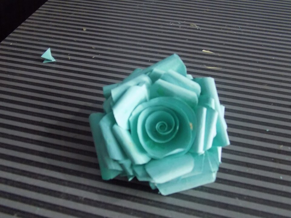 how to make paper rose- at home easy- 2015 Step By step tutorials ...
