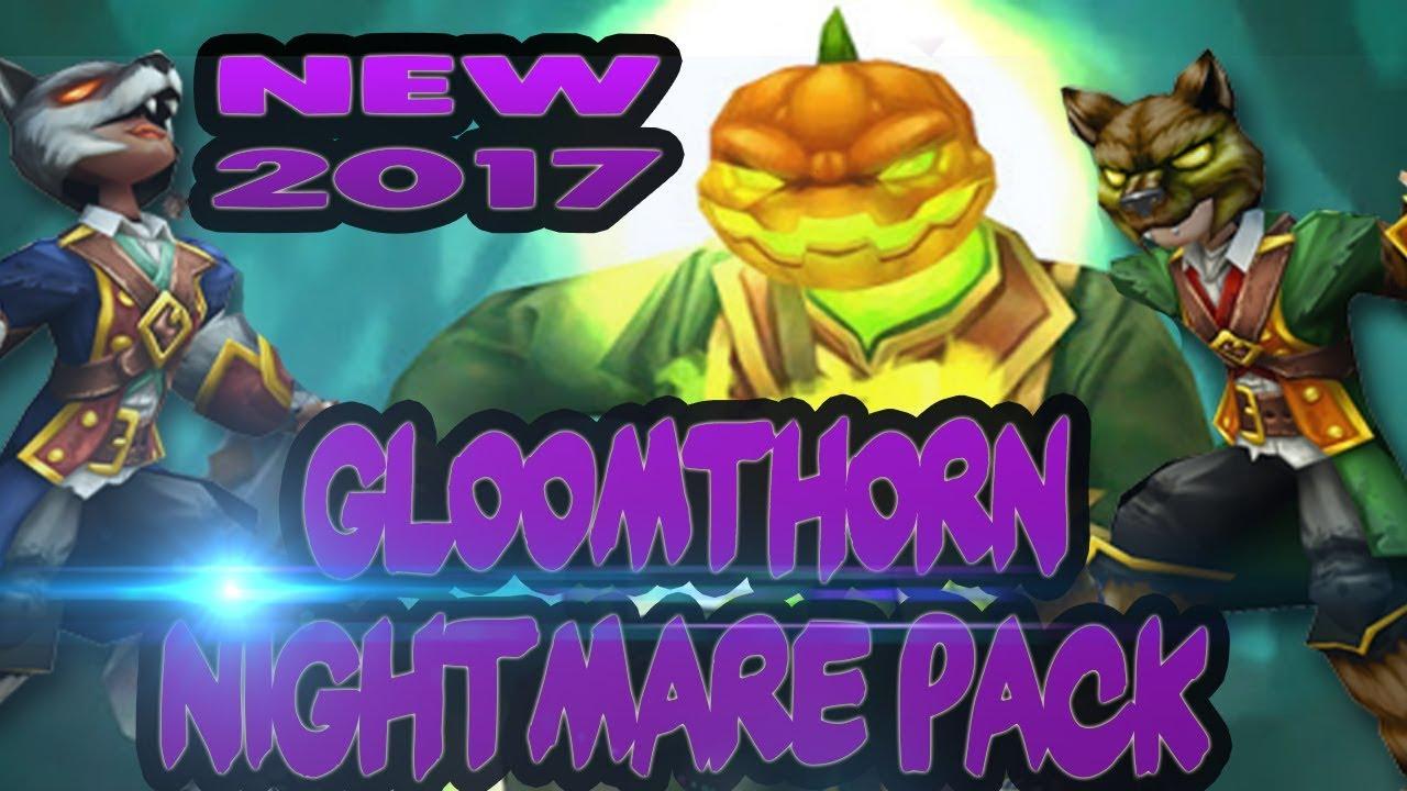 Wizard101: NEW GLOOMTHORN NIGHTMARE PACK OPENING 2017! WE GOT HEADLESS  HORSEMAN TRAINED!