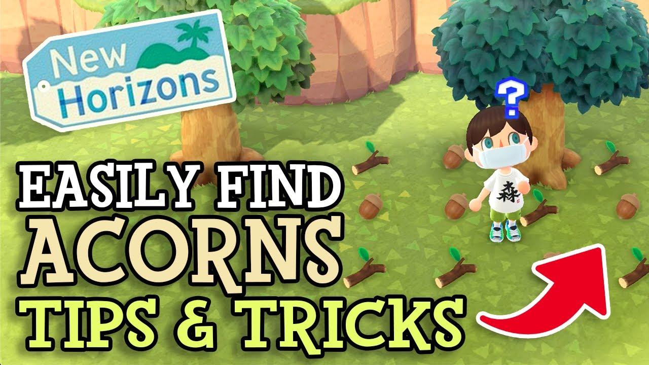 Animal Crossing New Horizons How To Get Acorns Pine Cones Fast Tree S Bounty Diy Recipes Tricks Youtube