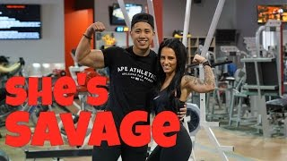 SHES A SAVAGE | COUPLES PUSH DAY VLOG EXPLAINED