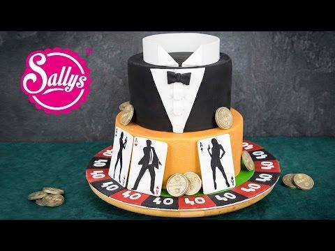 James Bond Motivtorte 007 / Fondant Cake / Casino Royale Cake