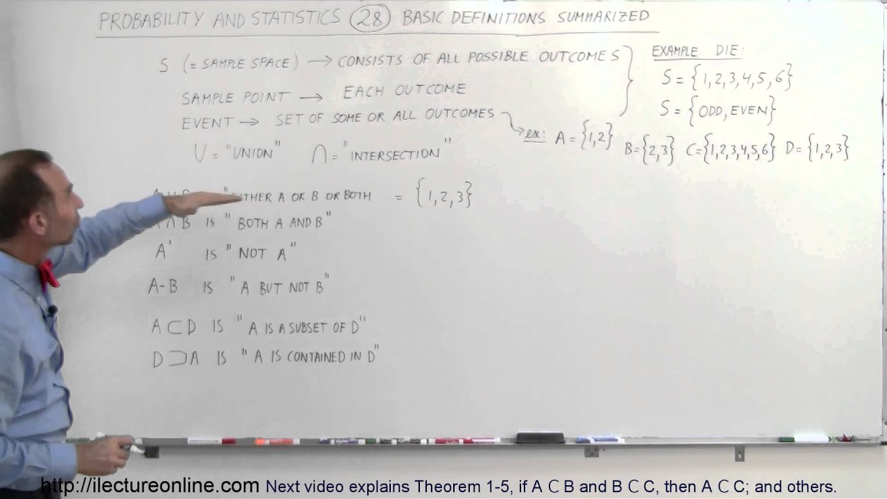 Probability & Statistics (28 of 62) Basic Definitions and