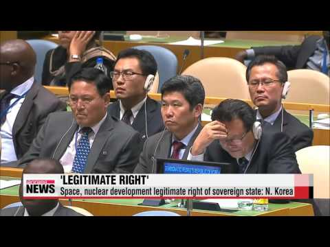 Space, nuclear development legitimate right of sovereign state: N. Korea   북 로켓발