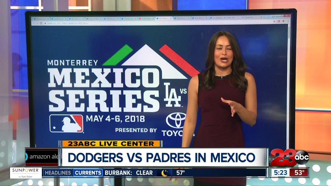 MLB Mexico Series  Dodgers vs Padres - YouTube 43865f606