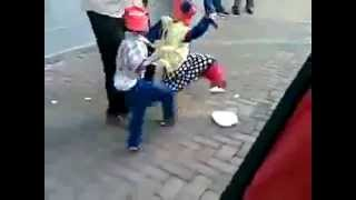 African dancing puppets in Johannesburg