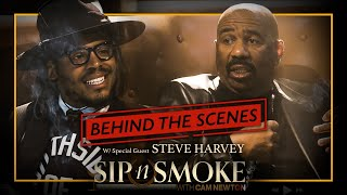 Steve Harvey Drops Gems on Cam | Sip N Smoke #BTS