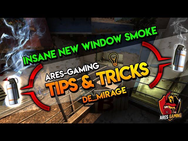 Tips & tricks: DE_MIRAGE INSANE NEW WINDOW SMOKE  [CS:GO] 2019 by ares-gaming