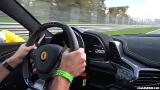 280km/h Ferrari 458 Speciale OnBoard Ride Flat Out on Track!!