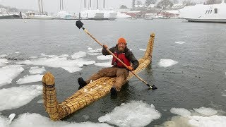 How to build a Reed Boat (87 day episode 19) thumbnail