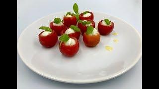 Салат капрезе | Закуска для фуршета «Капрезе» | Салат с моцареллой и черри