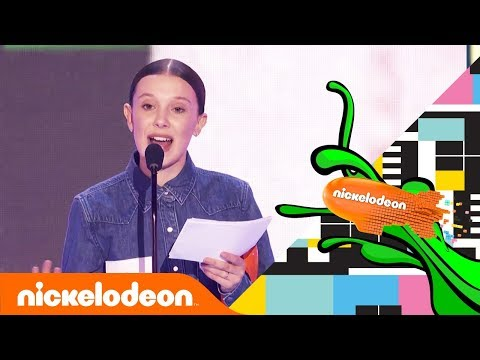 Millie Bobby Brown's Meaningful Speech After First Blimp Win ????| Kids' Choice Awards 2018 | Nick