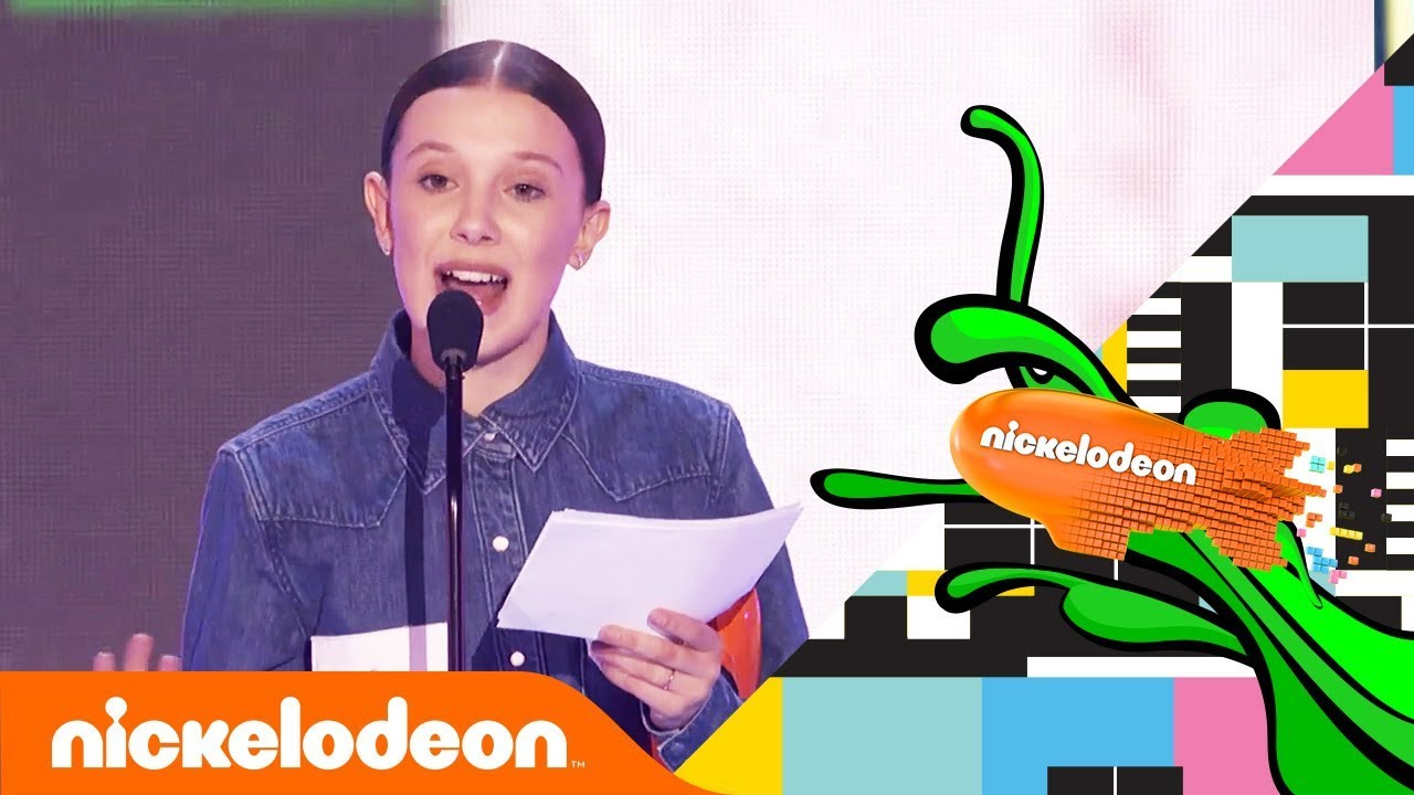 Millie Bobby Brown S Meaningful Speech After First Blimp Win Kids Choice Awards 2018 Nick Youtube