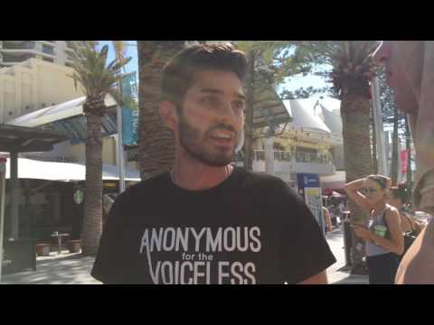 Anonymous for the Voiceless - Gold Cost Activism - Cube of Truth - Long version
