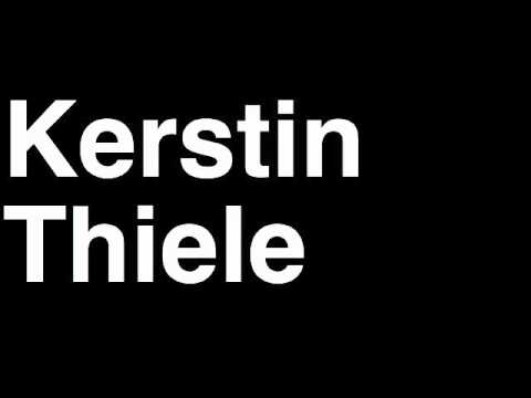 How to Pronounce Kerstin Thiele Germany Silver Medal Women's Judo London 2012 Olympics Video