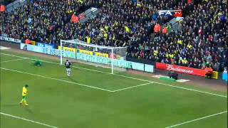 Norwich City 0-1  Luton Town   The FA Cup 4th Round 2013