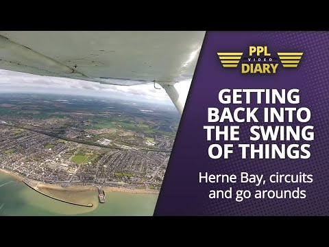 Getting back into the swing of things | Herne Bay, circuits & go arounds (C152 G-BMCN) Full ATC