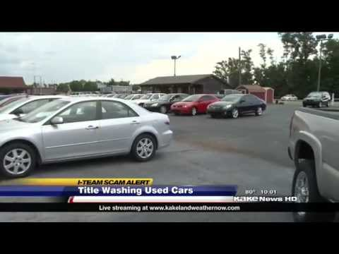 "SCAM: ""Title washers"" deceive buyers about condition of used cars"