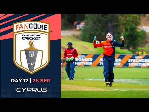 🔴 FanCode European Cricket T10 Cyprus,  Limassol | Day 12 T10 Live Cricket