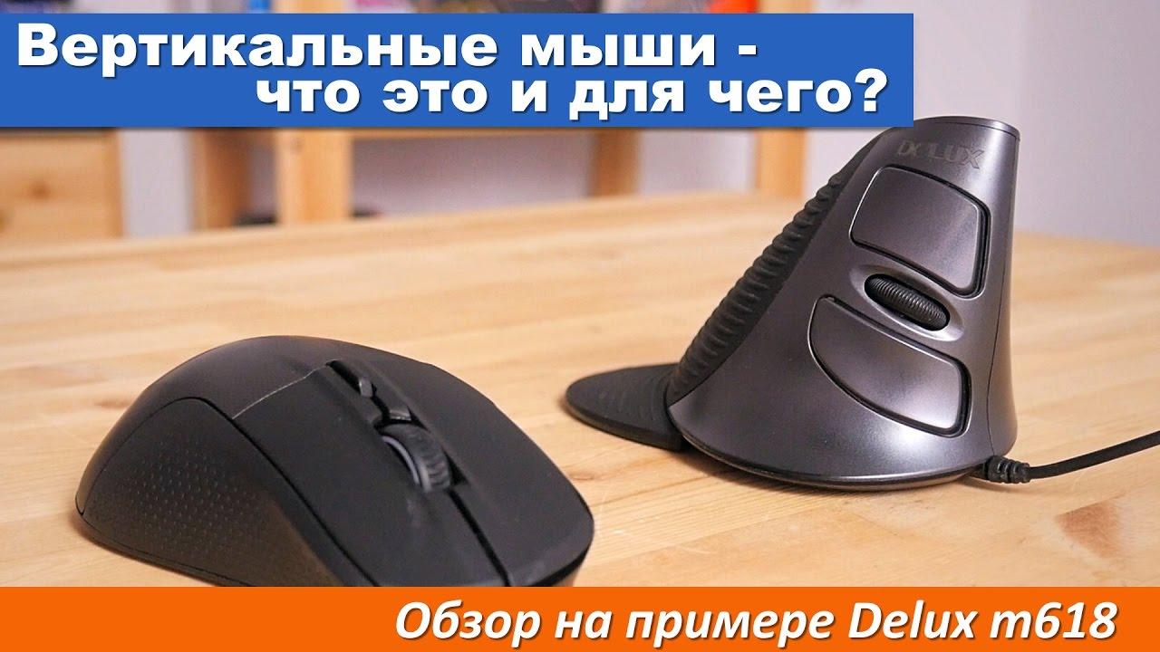 Вертикальные мыши - что это и для чего? Обзор на примере Delux m618
