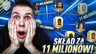MILIONER! SKŁAD ZA 11 MILIONÓW W FUT CHAMPIONS  - FIFA 18 DRUŻYNA IKON [#22]