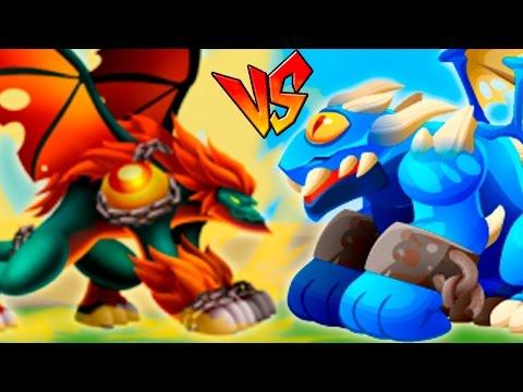 Dragon City - High Tension Dragon VS Dragon Cíclope - Dragon Games DC Island