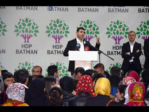HDP Genel Başkanı SELAHATTİN DEMİRTAŞ - BATMAN'DA