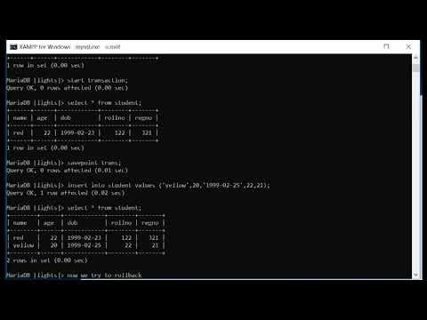 tcl commands in mysql