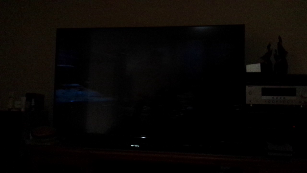 Sony TV test showing dark screen problems. - YouTube