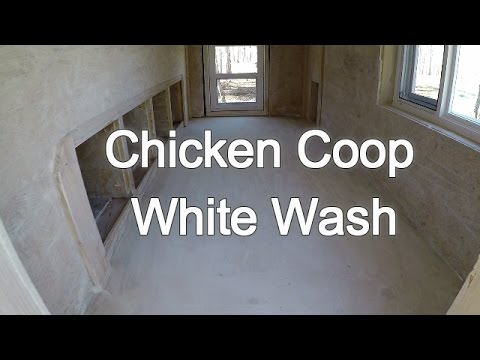 chicken coop white wash hydrated lime powder youtube. Black Bedroom Furniture Sets. Home Design Ideas