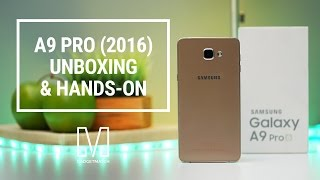 samsung galaxy a9 pro unboxing and hands on
