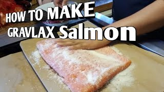 How to make Glavlax Salmon / Cured Salmon Recipes ( BUHAY AMERIKA)