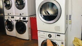 엘지 소형드럼세탁기+삼성건조기 직렬세트 LG WASHE…