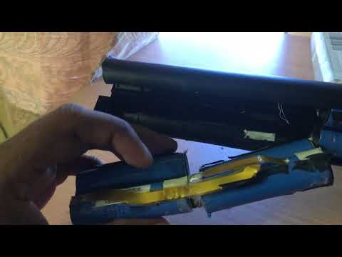 Harvesting lithium ion batteries from old laptop battery