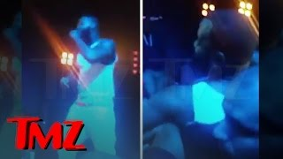 Rapper The Game Falls Off Stage While Performing!