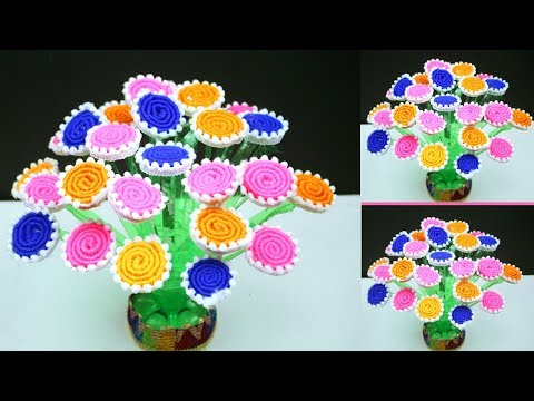 Guldasta From Waste Plastic Bottles And Newspaper || Guldasta Banane Ka Tarika Easy || Saifa Craft