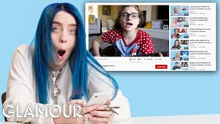 Billie Eilish Watches Fan Covers on YouTube | Glamour thumbnail
