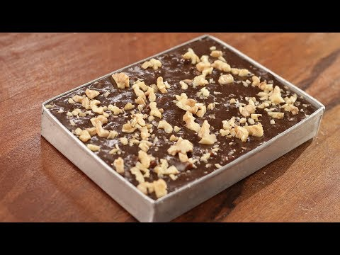 Chocolate Walnut Fudge | Cooking with California Walnuts | Sanjeev Kapoor Khazana