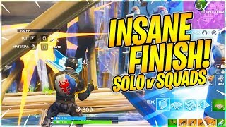The Craziest Solo Squad Finish Ever!! - Fortnite BR Full Gameplay