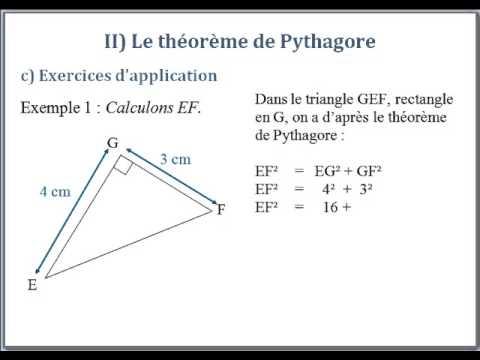 exemple exercice pythagore