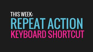 60 Sec. PowerPoint ProTip » Repeat Action Keyboard Shortcut