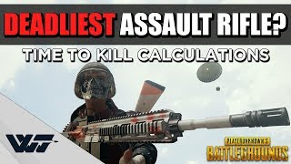 GUIDE: Which Assault Rifle is DEADLIEST? Calculating the TIME TO KILL for each AR - PUBG