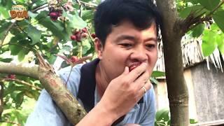 Với chén muối ớt, Khương Dừa ăn sạch vườn trái cây của bà nội!!!