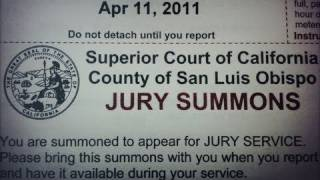 SUMMONED for JURY DUTY!!! - VEDA 2011 #10